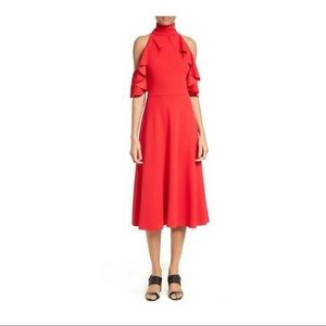 Tracy Reese Red Cold Shoulder Dress